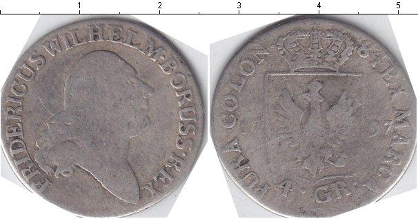 Картинка Монеты Пруссия 4 гроша Серебро 1797