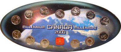 Изображение Подарочные монеты Канада Набор 2000 года- миллениум 2000 Медно-никель UNC Подарочный набор 200