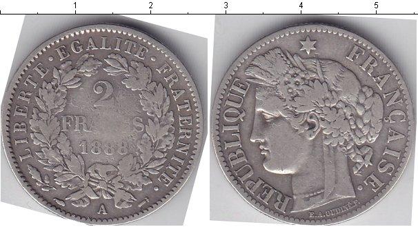 Картинка Монеты Франция 2 франка Серебро 1888
