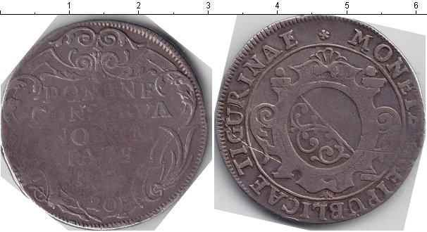 Картинка Монеты Швейцария 20 шиллингов Серебро 1726