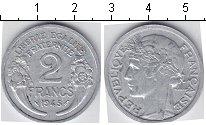 Изображение Мелочь Франция 2 франка 1945 Алюминий  KM#886a,1