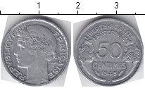 Изображение Мелочь Франция 50 сантим 1941 Алюминий  /