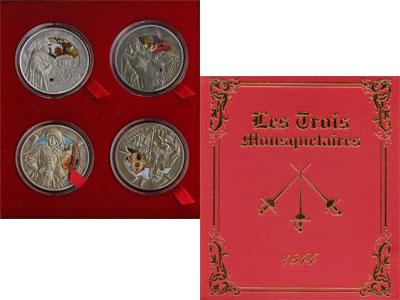 Изображение Подарочные наборы Беларусь Три мушкетёра 2009 Серебро Proof `Подарочный набор се