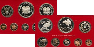 Изображение Подарочные монеты Папуа-Новая Гвинея Выпуск 1976 года 1976  Proof Представляем Вам рег