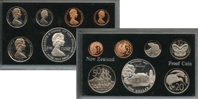Изображение Подарочные монеты Новая Зеландия Выпуск монет 1977 года, Серебрянный юбилей 1977  Proof Подарочный набор 197