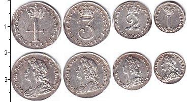 Изображение Наборы монет Великобритания Георг II, Маунди-сет 1737 (Благотворительный набор) 1737 Серебро UNC В наборе 4 монеты но