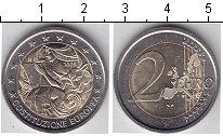 Монета Италия 2 евро Биметалл 2005 UNC- фото