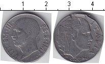 Изображение Монеты Италия 20 сентим 1942 Медно-никель  Витторио Имануил III