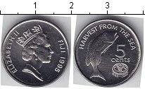 Изображение Мелочь Фиджи 5 центов 1995 Медно-никель UNC-