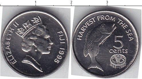 Картинка Мелочь Фиджи 5 центов Медно-никель 1995