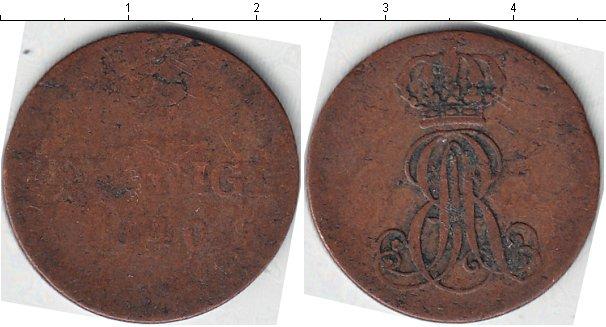 Картинка Монеты Ганновер 2 пфеннига Медь 1840