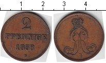 Изображение Монеты Ганновер 2 пфеннига 1853 Медь