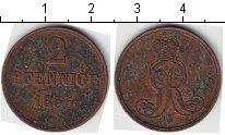 Изображение Монеты Ганновер 2 пфеннига 1855 Медь