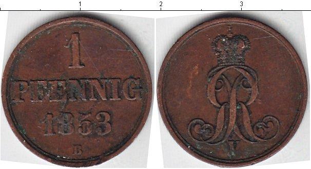 Картинка Монеты Ганновер 1 пфенниг Медь 1853