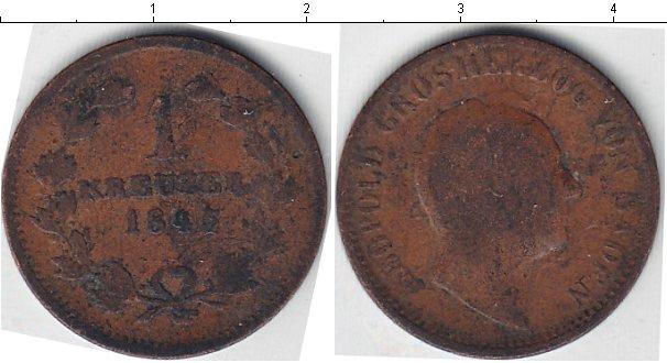 Картинка Монеты Баден 1 крейцер Медь 1845