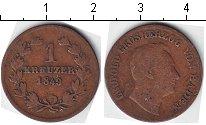 Изображение Монеты Баден 1 крейцер 1849 Медь