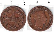 Изображение Монеты Баден 1 крейцер 1851 Медь