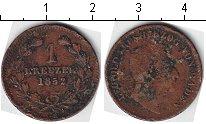 Изображение Монеты Баден 1 крейцер 1852 Медь  Леопольд