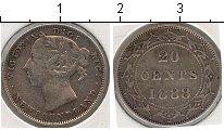 Изображение Монеты Ньюфаундленд 20 центов 1888 Серебро VF Виктория