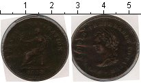 Изображение Монеты Великобритания 1 пенни 1838 Медь  Виктория