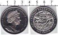 Изображение Мелочь Фолклендские острова 1 крона 2007 Медно-никель UNC- Роберт Баден