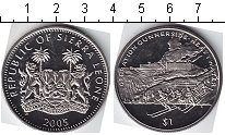Монета Сьерра-Леоне 1 доллар Медно-никель 2005 UNC- фото