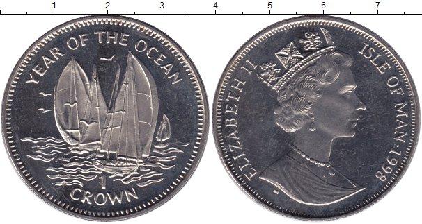 Картинка Мелочь Остров Мэн 1 крона Медно-никель 1998