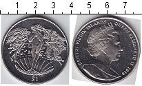 Изображение Мелочь Виргинские острова 1 доллар 2010 Медно-никель UNC- Прекрасная девушка