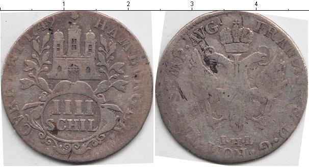 Картинка Монеты Гамбург 4 шиллинга Серебро 1749