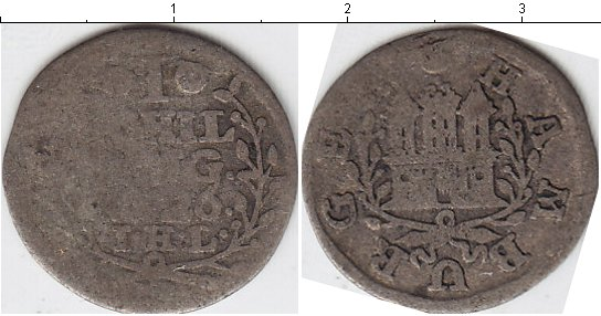Картинка Монеты Гамбург 1 шиллинг Серебро 1726