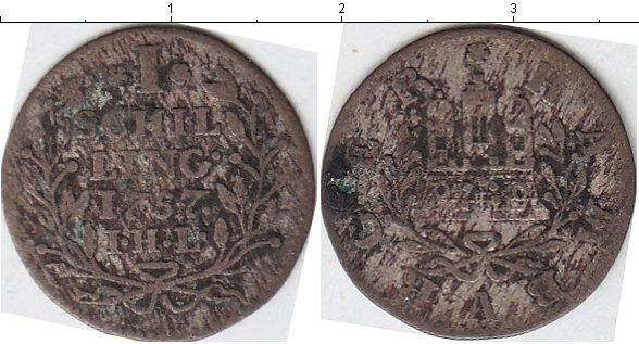 Картинка Монеты Гамбург 1 шиллинг Серебро 1757