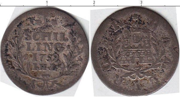 Картинка Монеты Гамбург 1 шиллинг Серебро 1759