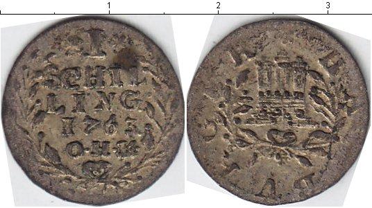 Картинка Монеты Гамбург 1 шиллинг Серебро 1763