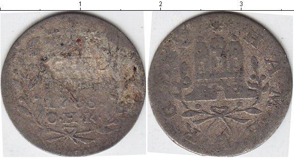Картинка Монеты Гамбург 1 шиллинг Серебро 1766
