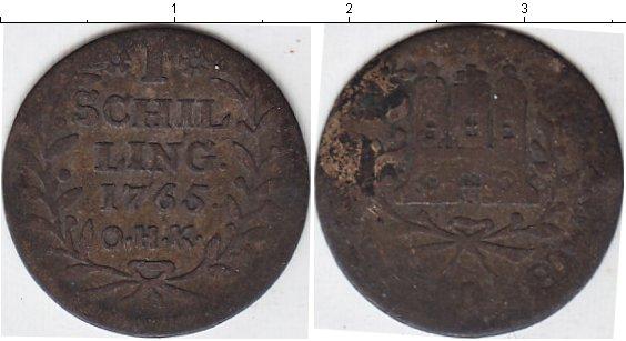 Картинка Монеты Гамбург 1 шиллинг Серебро 1765