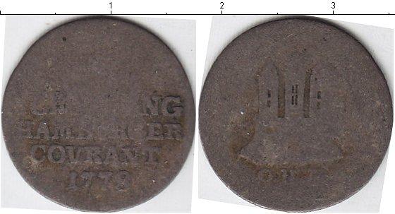Картинка Монеты Гамбург 1 шиллинг Серебро 1778