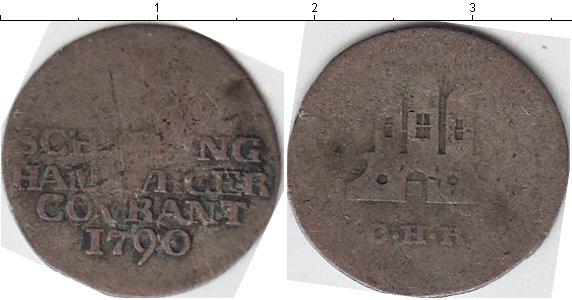 Картинка Монеты Гамбург 1 шиллинг Серебро 1790