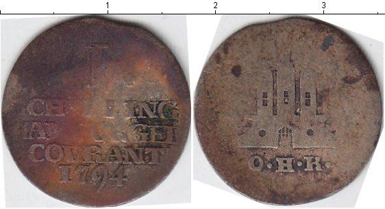 Картинка Монеты Гамбург 1 шиллинг Серебро 1794