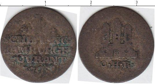 Картинка Монеты Гамбург 1 шиллинг Серебро 1795