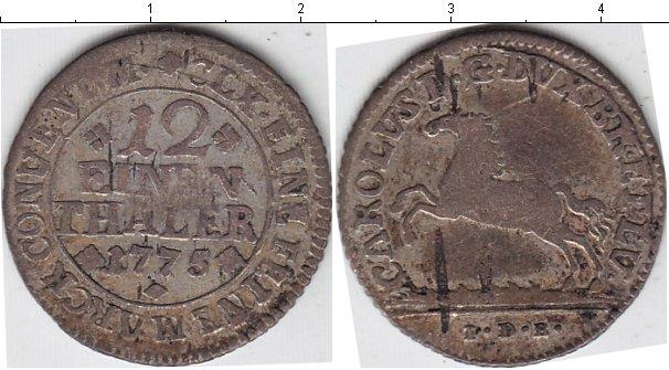 Картинка Монеты Ганновер 1/12 талера Серебро 1775