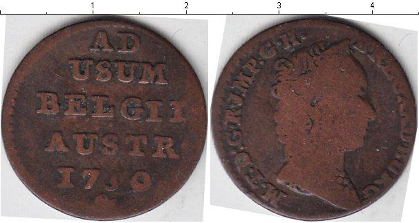 Картинка Монеты Бельгия 1 лиард Медь 1750
