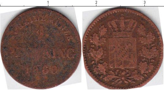 Картинка Монеты Бавария 1 пфенниг Медь 1860
