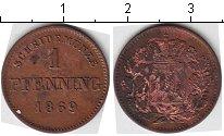 Изображение Монеты Бавария 1 пфенниг 1869 Медь