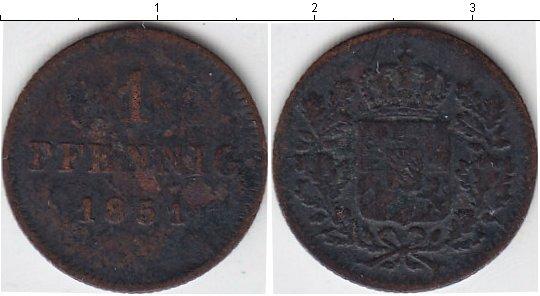 Картинка Монеты Бавария 1 пфенниг Медь 1851