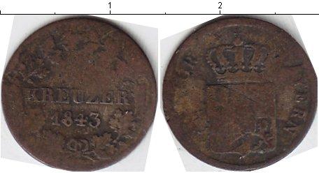 Картинка Монеты Бавария 1 крейцер Серебро 1843