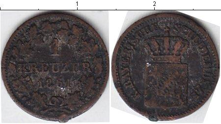 Картинка Монеты Бавария 1 крейцер Серебро 1861