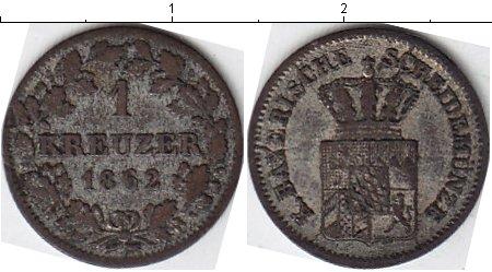 Картинка Монеты Бавария 1 крейцер Серебро 1862