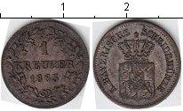 Изображение Монеты Бавария 1 крейцер 1863 Серебро
