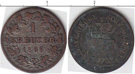Картинка Монеты Бавария 1 крейцер Серебро 1866
