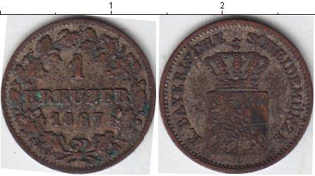 Картинка Монеты Бавария 1 крейцер Серебро 1867
